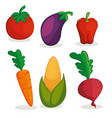 organic vegetables design vector image vector image