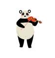 panda bear playing violin cute cartoon animal