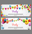 Party background baner with flags and balloons
