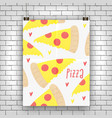 pizza slice concept vector image