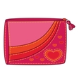 purse with valentine hearts vector image