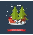 santa claus riding sleigh vector image