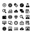 seo and digital marketing glyph icons 8 vector image