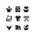 set laundry icons vector image