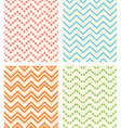 Set of retro zig zag seamless backgrounds vector image vector image