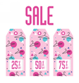 Set of sale tags Different discount value vector image vector image