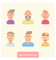 set wit flat avatars vector image