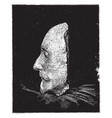 shakespeare death mask left side vintage vector image vector image