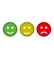 smileys flat style on a yellow background vector image vector image