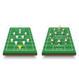 soccer cup formation and tactic set of vector image vector image