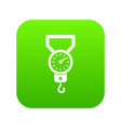 spring scale icon digital green vector image