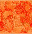summer exotic floral tropical palm vector image vector image