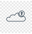 upload to cloud concept linear icon isolated on vector image