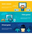 Video Game Banner Set vector image