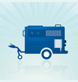 water pump trailer vector image