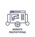 website prototyping line icon concept website vector image vector image