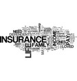 why should i even bother to buy a life insurance vector image vector image