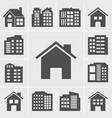 building icons series vector image
