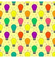 seamless pattern with light bulb in flat style vector image