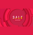 abstract circle a red background template vector image vector image