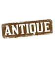 antique sign or stamp vector image vector image
