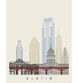 Austin skyline poster vector image vector image