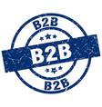 b2b blue round grunge stamp vector image