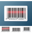 barcode label vector image vector image