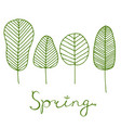 beautiful spring postcard with skeleton leaves vector image vector image