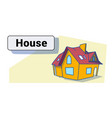 big modern house residence estate new home vector image