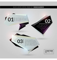Black and white crystal frame set vector image vector image
