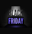 black friday total sale banner template vector image vector image