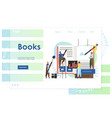 books website landing page design template vector image