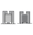 buildings line and glyph icon real estate vector image vector image