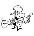 Cartoon bandit vector image vector image