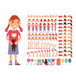 cartoon cute little girl character vector image vector image