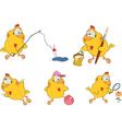 Chicken clip art cartoon vector image vector image
