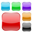 colored square icons with stripes vector image vector image