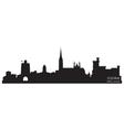 Cork Ireland skyline Detailed silhouette