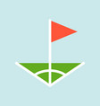 corner symbol flat design icon soccer related vector image vector image