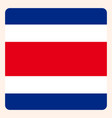 costa rica square flag button social media vector image vector image