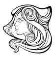 decorative portrait of shaman beauty girl vector image vector image