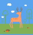 deer flat style vector image vector image