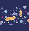 different microbes bacterias microscopic world vector image vector image