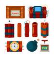 dynamite sticks risk dangerous items bomb vector image vector image