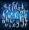 fairytale hand drawn alphabet on light background vector image vector image