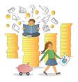 financial literacy concept vector image vector image