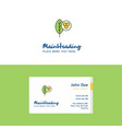flat leaf logo and visiting card template vector image vector image