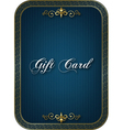Gift card blue vector image vector image