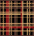 gold chains tartan seamless pattern vector image